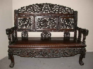 Heavily Carved Chinese Furniture