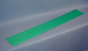 Neck lamination piece 800 x 110 x 0.6mm dyed blue green