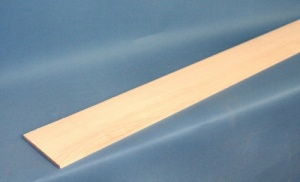 Through neck lamination piece 1150 x 110 x 6mm maple