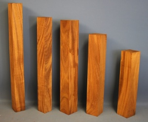 Old Cuban Mahogany sawn square 530 x 52 x 52mm
