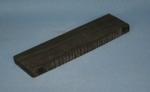 Indian ebony western guitar bridge blank grade AAA*
