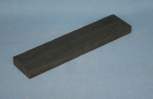 Bog oak western guitar bridge blank grade AAA*