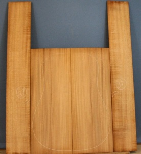 Cuban specie mahogany guitar back and sides set