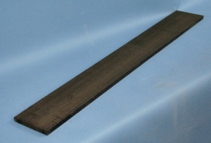 African ebony 7 string guitar fingerboard - black grade