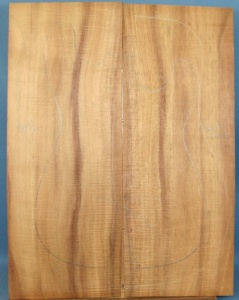 Hawaiian Koa guitar top type 'B'