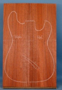 African padauk guitar top type 'A'