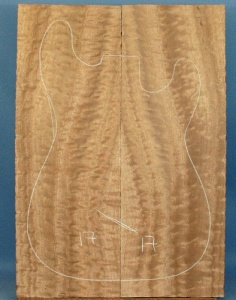 Pommelle sapele guitar top type 'A'