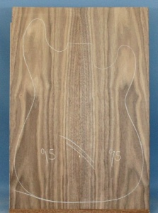 American black walnut guitar top type 'B'
