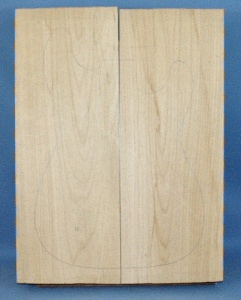 Alder two piece body blank type 'A'