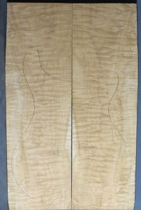 Quilted maple guitar top number 97 type 'B'  strong figure