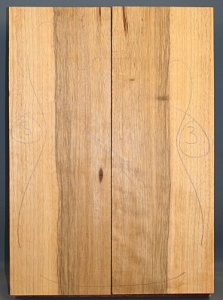 Black limba heart sap two piece body select grade no 3