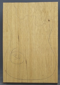 White limba single piece body standard grade no 34