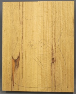 White limba two piece body standard grade no 46