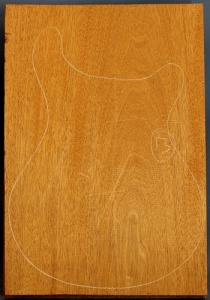 Honduras mahogany single piece body blank no 13