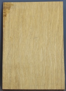 White limba single piece body blank select grade number 3, 43mm thick.