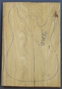 White limba single piece body blank select grade number 5, 38mm thick.