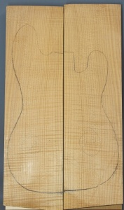 Curly maple guitar top number 217 type 'A' medium figure