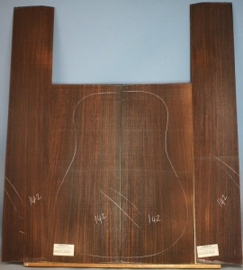 Indian rosewood guitar back and sides WAAA** no 142