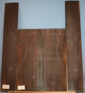 Indian rosewood guitar back and sides WAAA** no 158