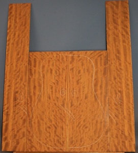 Bubinga guitar back and sides set no 11