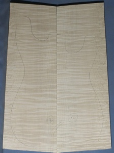 Curly maple guitar top number 112 type 'B'  highest figure