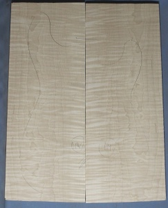 Curly maple guitar top number 114 type 'B'  highest figure