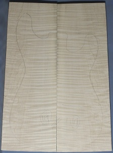 Curly maple guitar top number 117 type 'B' highest figure