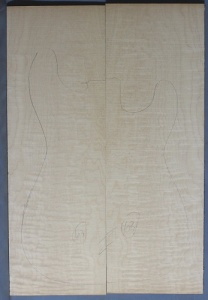Quilted maple guitar top type 'B' light figure number 63