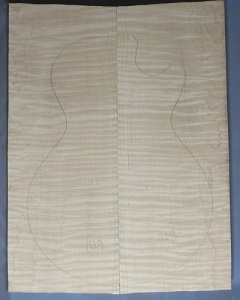 Curly maple guitar top number 129 type 'A'  highest figure