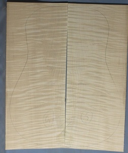 Curly maple back and sides number 5 highest figure