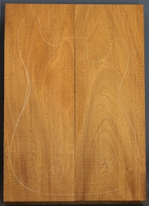 Honduras mahogany two piece body blank no 78