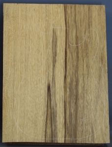 Black limba heart sap single piece blank no 75 select grade