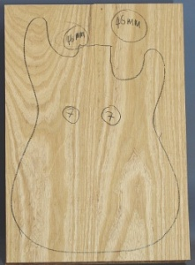 Swamp ash two piece body blank no 7