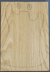 Swamp ash two piece body blank no 2
