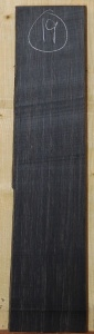 African Black Ebony sawn board no 19