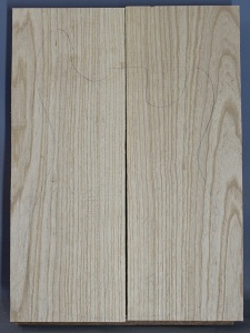 Swamp ash two piece body blank no 55