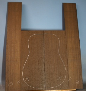 Wenge guitar back and sides set no 13