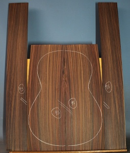 Indian rosewood guitar back and sides CAAA** no 95