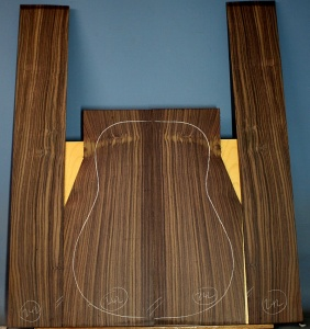 Indian rosewood guitar back and sides WAAA no 242
