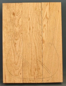 Swamp ash three piece body blank no 10