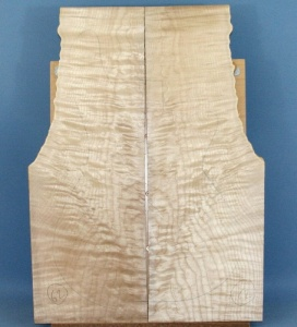 Quilted maple guitar top  number 62 type 'B' medium figure