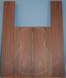 Indian rosewood guitar back and sides CAAA*** no 37