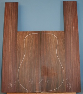 Indian rosewood guitar back and sides WAAA* no 3
