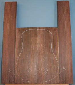 Indian rosewood guitar back and sides WAAA** no 4
