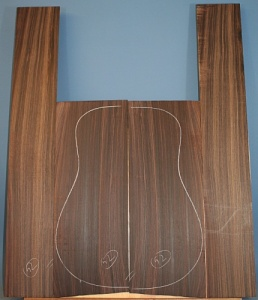 Indian rosewood guitar back and sides WAAA** no 52