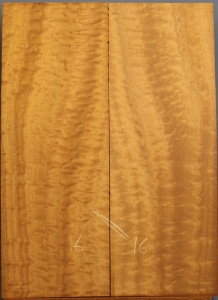 Pommelle sapele guitar top number 16 type 'B'