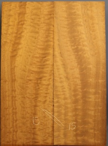 Pommelle sapele guitar top number 15 type 'B'