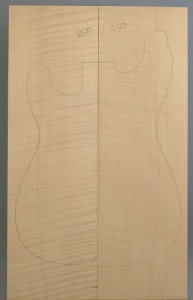 Curly maple guitar top type ' B'  strong figure number 250