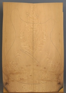 Lacewood guitar top number 51 type 'B'