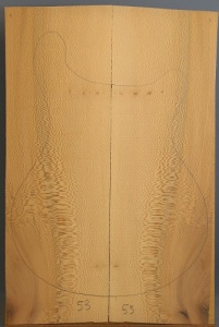 Lacewood guitar top number 53 type 'B'